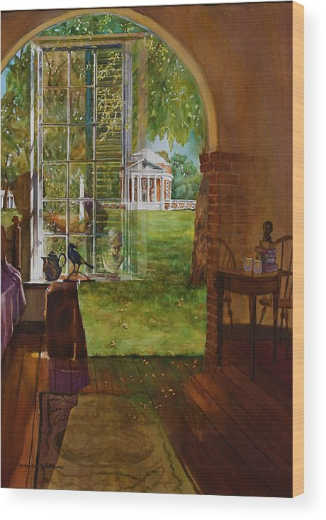 Reflections Wood Print featuring the painting Iconic Reflections by Carolyn Epperly