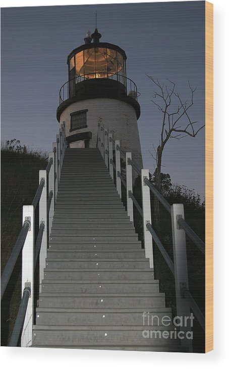 Paranormal Wood Print featuring the photograph Owls Head Light by Brenda Giasson