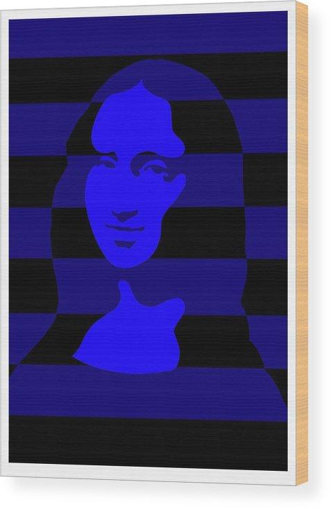 Mona Wood Print featuring the digital art Mona by Asbjorn Lonvig