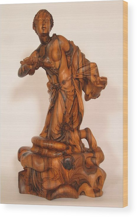 Sculpture Wood Print featuring the sculpture The death of Dido by Thu Nguyen
