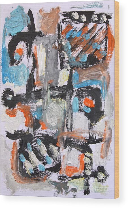 Wood Print featuring the painting Abstract 6834 by Michael Henderson