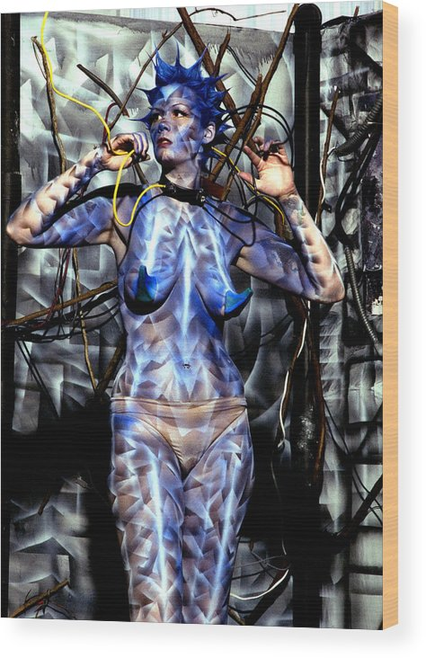 Body Paint Wood Print featuring the painting Alive by Leigh Odom