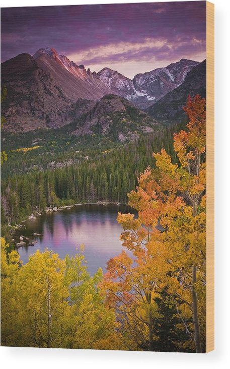 All Rights Reserved Wood Print featuring the photograph Aspen Sunset Over Bear Lake by Mike Berenson
