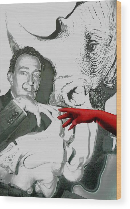 Poster With S.dali Wood Print featuring the photograph At Museum by Evguenia Men