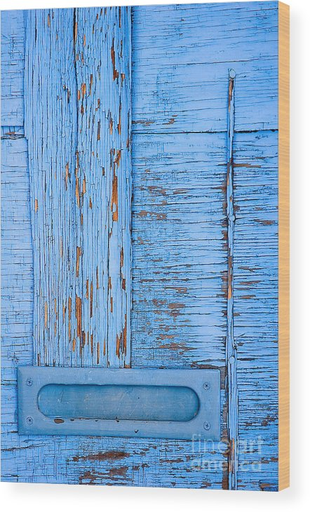 Colorado Wood Print featuring the photograph Blue Mail by Mark Braun