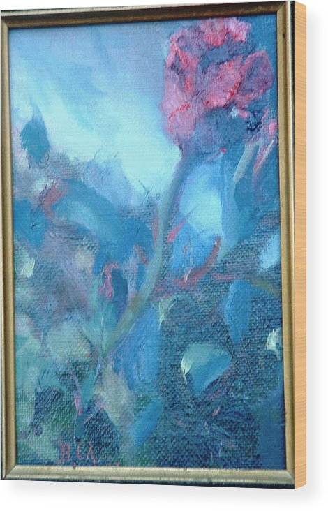 Still Life Wood Print featuring the painting Bob Hope Rose by Bryan Alexander