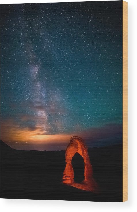 Milky Way Wood Print featuring the photograph Delicate Galaxies by Darren White
