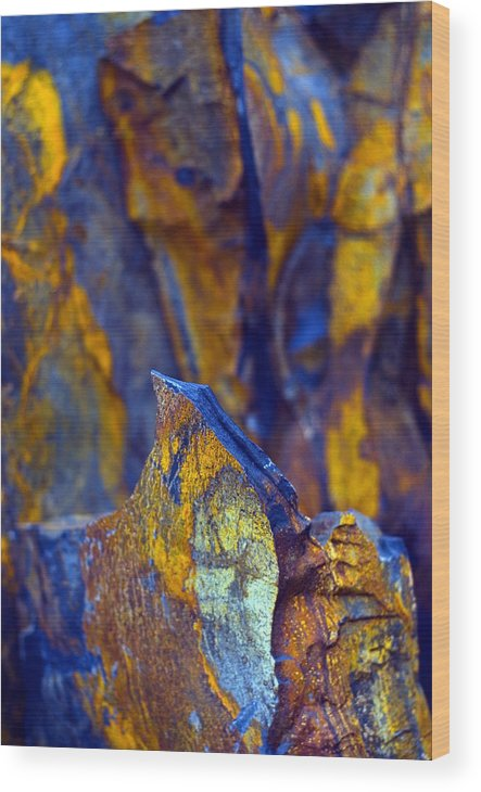 Texture Wood Print featuring the photograph First Cut is the Deepest by Skip Hunt