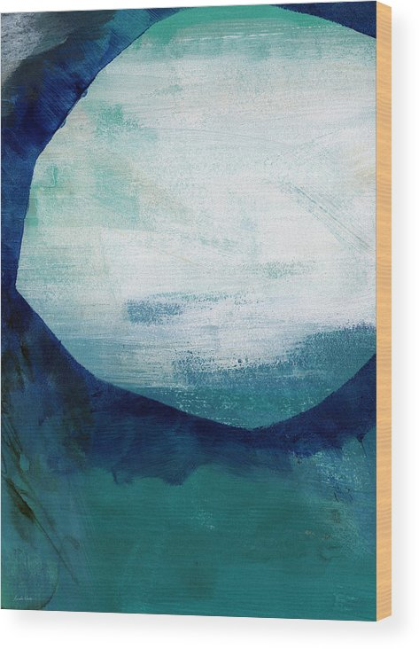Blue Wood Print featuring the painting Free My Soul by Linda Woods