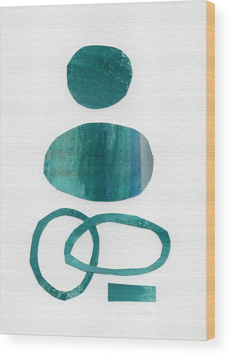 Abstract Art Wood Print featuring the mixed media Fresh Water by Linda Woods