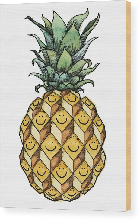 Fruit Wood Print featuring the painting Fruitful by Kelly King