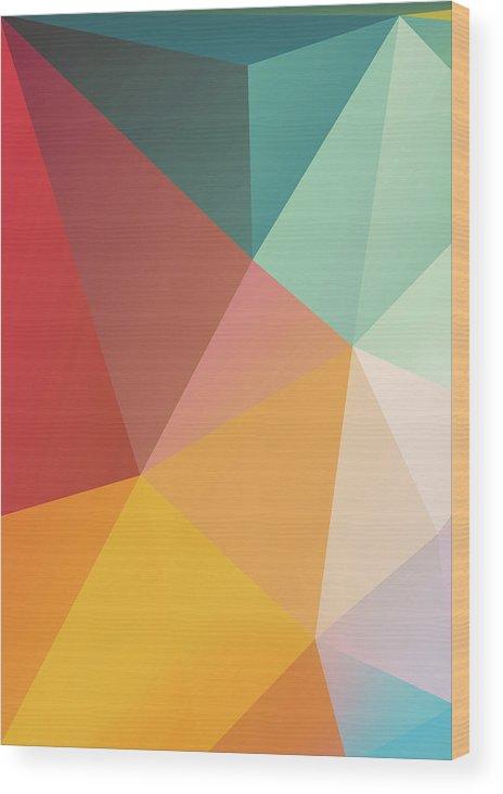 Wood Print featuring the digital art Geometric XXIX by Ultra Pop