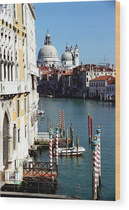 Venice Wood Print featuring the photograph Grand Canal In Venice From Accademia Bridge by Michael Henderson