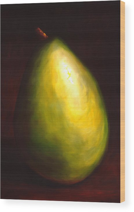 Pear Wood Print featuring the painting Jeana by Shannon Grissom