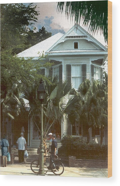 Historic Wood Print featuring the photograph Keywest by Steve Karol