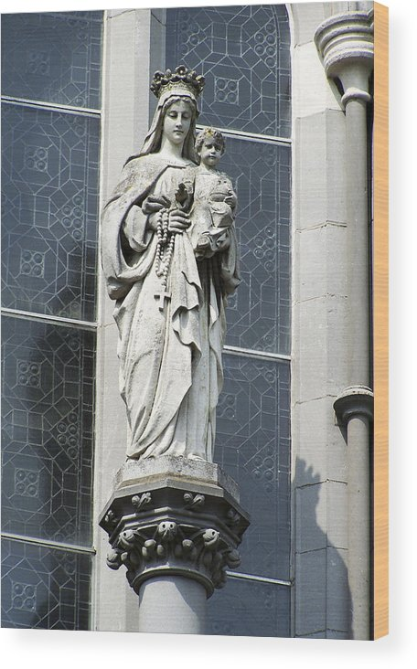 Ireland Wood Print featuring the photograph Madonna and Child by Teresa Mucha