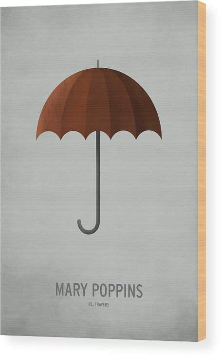 Stories Digital Art Wood Print featuring the digital art Mary Poppins by Christian Jackson