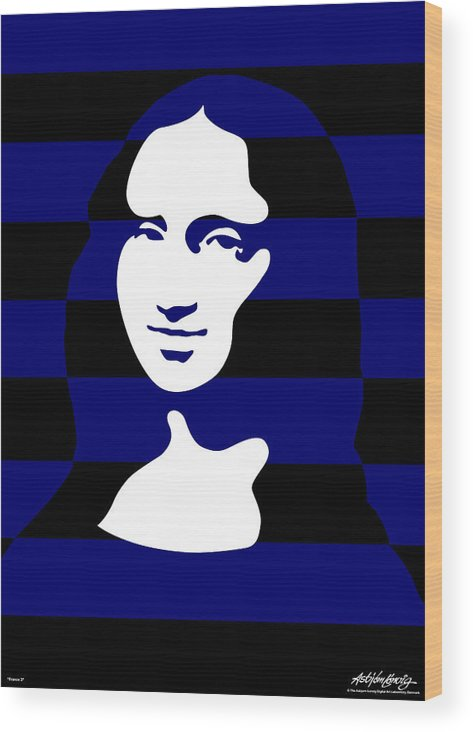 Mona Lisa Wood Print featuring the digital art Mona Lisa by Asbjorn Lonvig