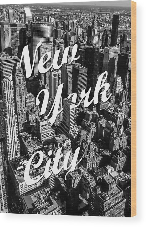 New York Wood Print featuring the photograph New York City by Nicklas Gustafsson