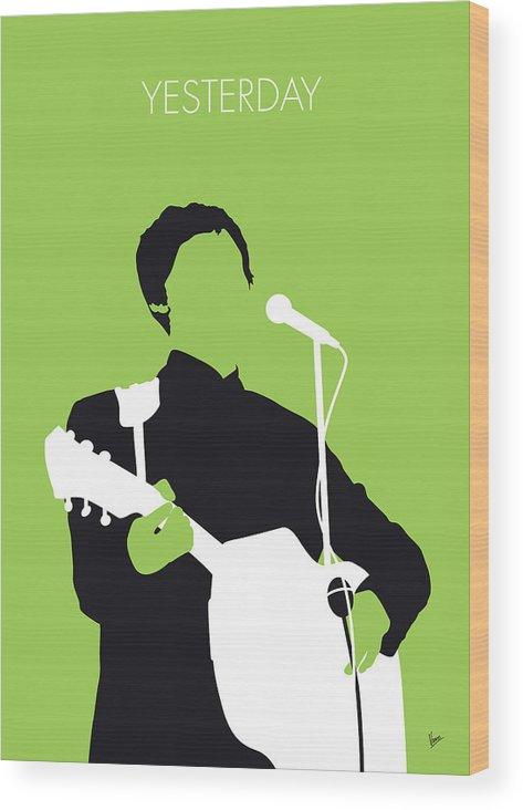 Paul Wood Print featuring the digital art No076 MY PAUL MCCARTNEY Minimal Music poster by Chungkong Art