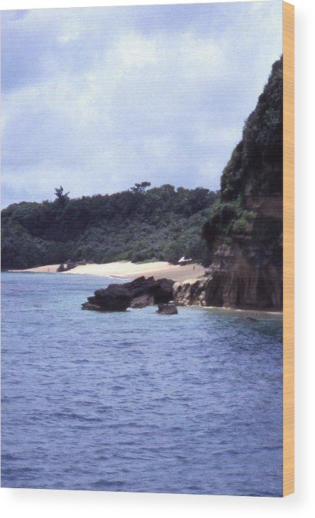 Okinawa Wood Print featuring the photograph Okinawa Beach 10 by Curtis J Neeley Jr