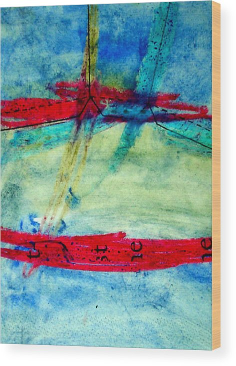 Abstract Wood Print featuring the mixed media Pattern by Kim Putney