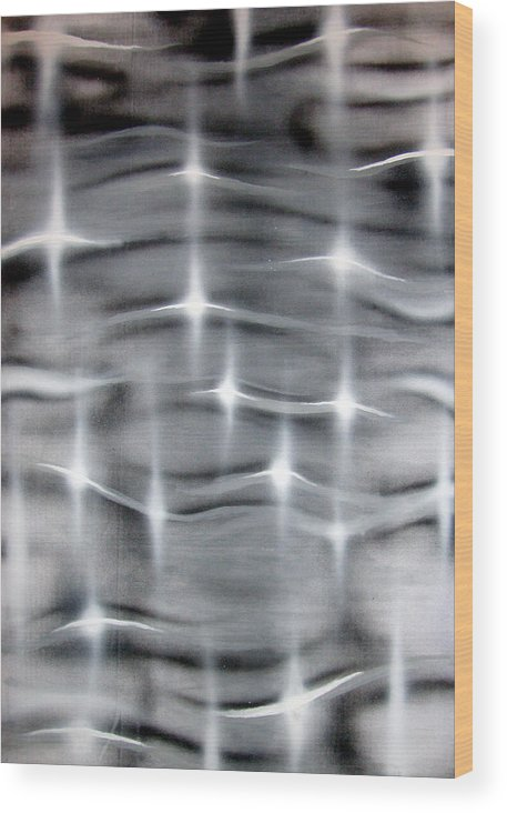 Abstract Wood Print featuring the painting Ripple by Leigh Odom