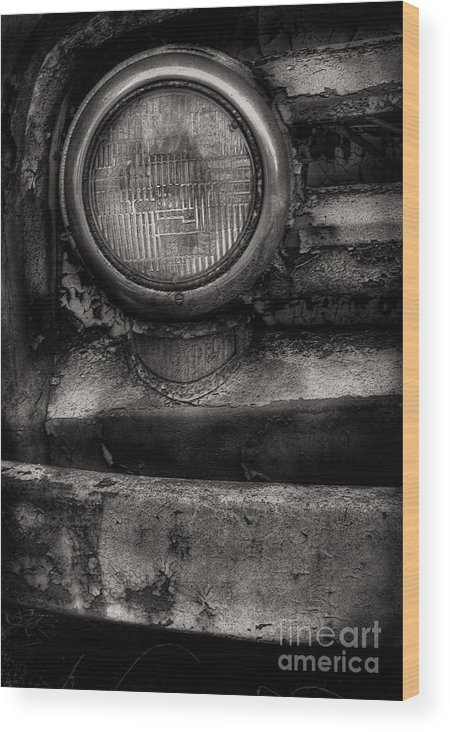 Scotopic Wood Print featuring the photograph Scotopic Vision 7 - Headlight by Pete Hellmann