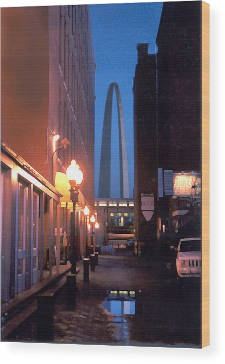 St. Louis Wood Print featuring the photograph St. Louis Arch by Steve Karol