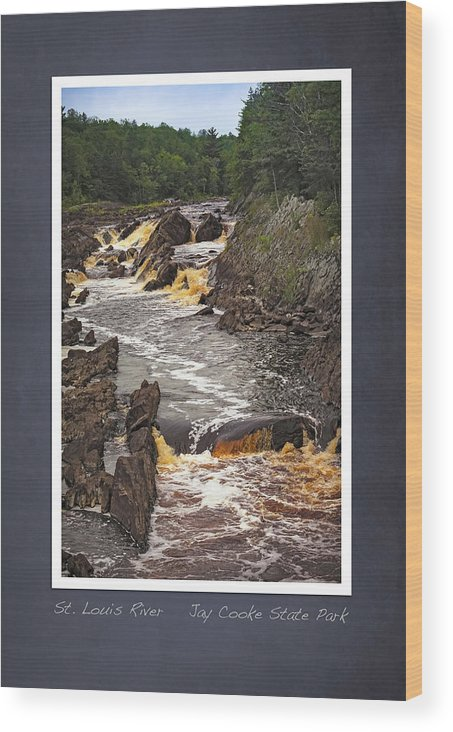 Jay Cooke Wood Print featuring the photograph St Louis River scrapbook page 3 by Heidi Hermes