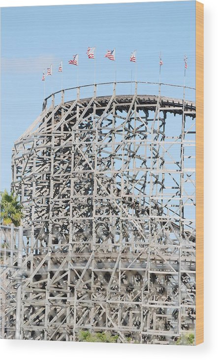 Pop Art Wood Print featuring the photograph Wooden Coaster by Rob Hans