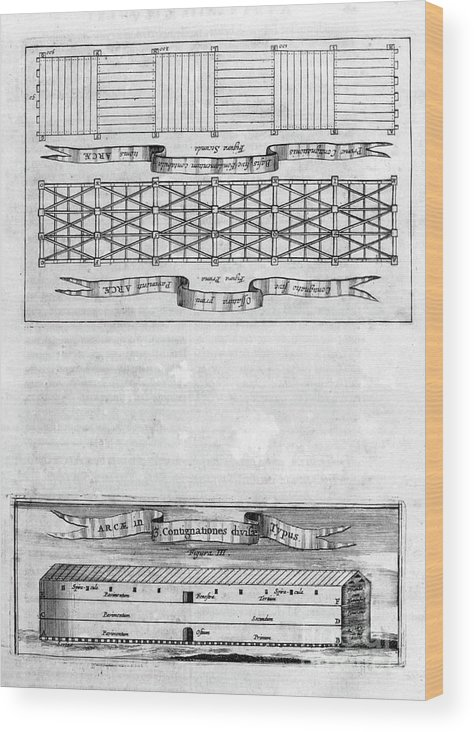 Engraving Wood Print featuring the drawing Description Of The Ark, 1675. Artist by Print Collector