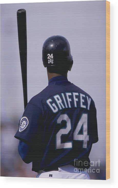 Peoria Sports Complex Wood Print featuring the photograph Ken Griffey Jr by Brian Bahr