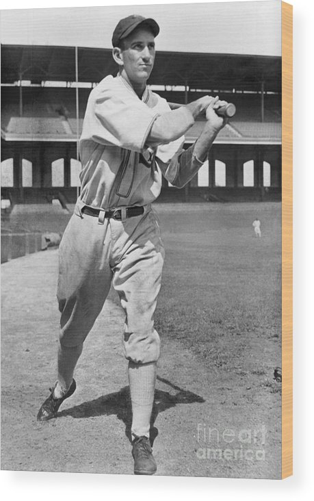 1930-1939 Wood Print featuring the photograph National Baseball Hall Of Fame Library by National Baseball Hall Of Fame Library