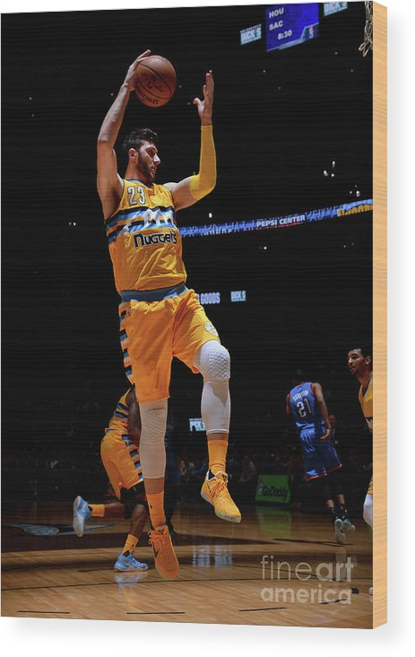 Jusuf Nurkić Wood Print featuring the photograph Oklahoma City Thunder V Denver Nuggets by Bart Young