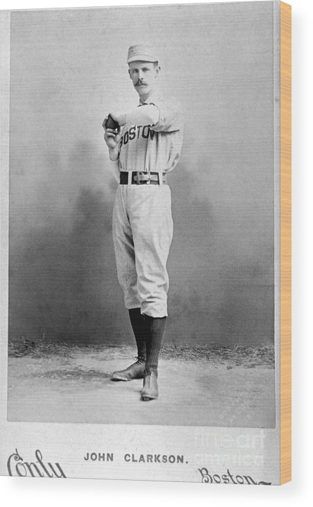 People Wood Print featuring the photograph National Baseball Hall Of Fame Library by National Baseball Hall Of Fame Library