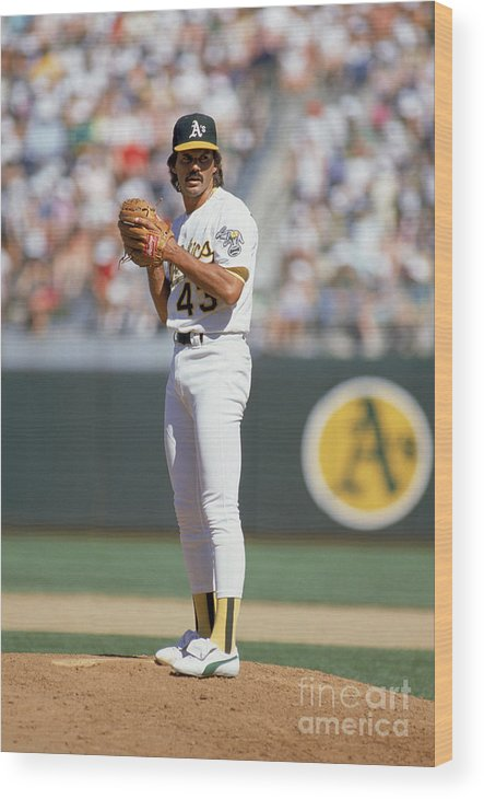1980-1989 Wood Print featuring the photograph Dennis Eckersley by Otto Greule Jr