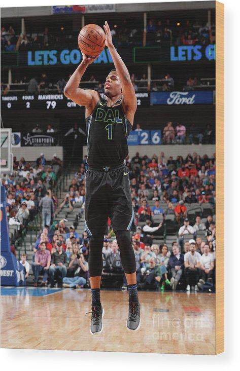 Nba Pro Basketball Wood Print featuring the photograph Houston Rockets V Dallas Mavericks by Danny Bollinger