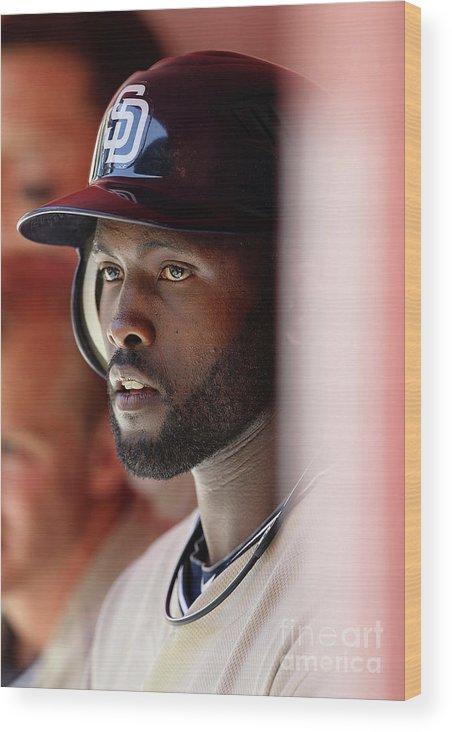 Tony Gwynn Jr. Wood Print featuring the photograph San Diego Padres V Arizona Diamondbacks by Christian Petersen
