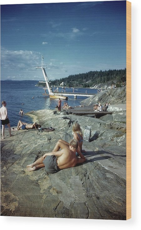 Rock Music Wood Print featuring the photograph Norway by Michael Ochs Archives