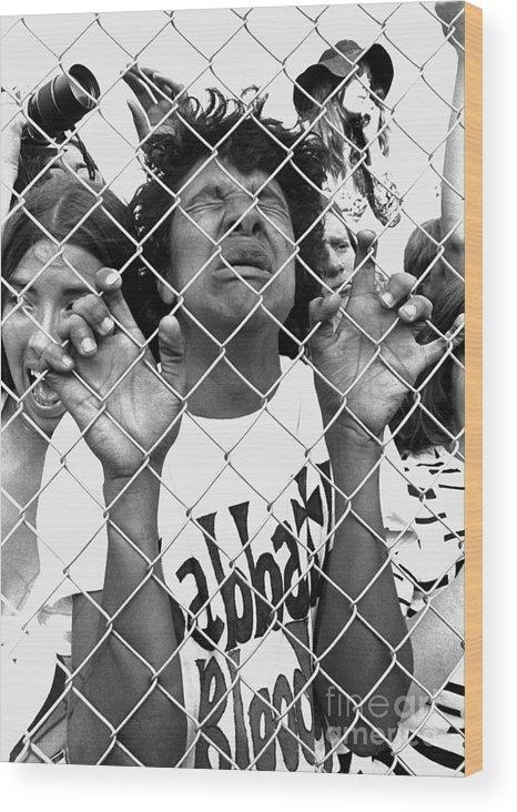 Heavy Metal Wood Print featuring the photograph Mark Sullivan 70s Rock Archive by Mark Sullivan