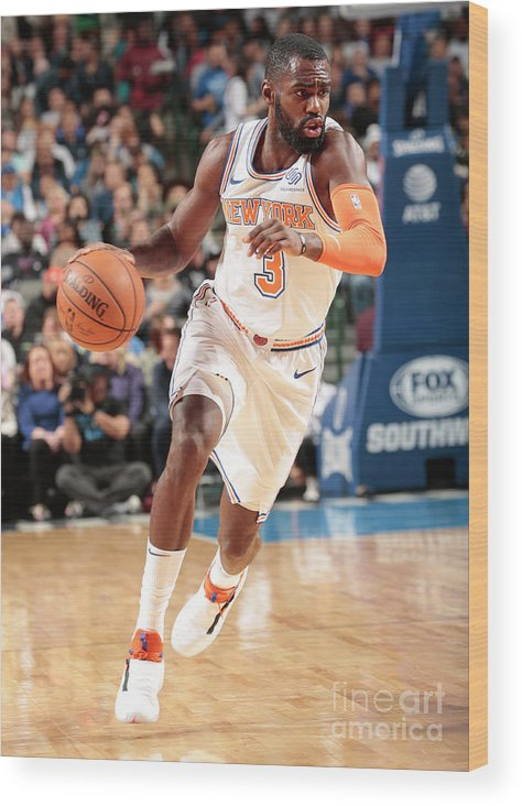 Tim Hardaway Jr. Wood Print featuring the photograph New York Knicks V Dallas Mavericks by Glenn James