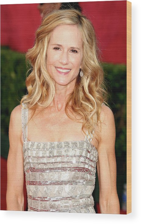 Holly Hunter Wood Print featuring the photograph 61st Annual Primetime Emmy Awards - by Jason Merritt