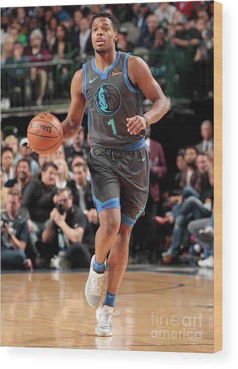 Nba Pro Basketball Wood Print featuring the photograph Oklahoma City Thunder V Dallas Mavericks by Glenn James