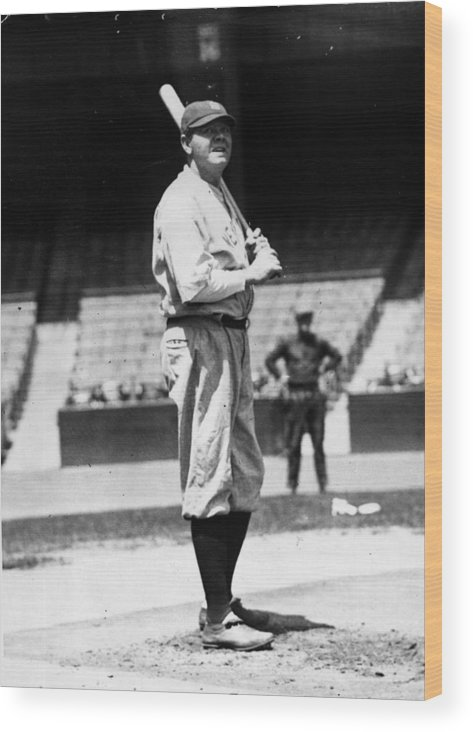 People Wood Print featuring the photograph Babe Ruth by General Photographic Agency