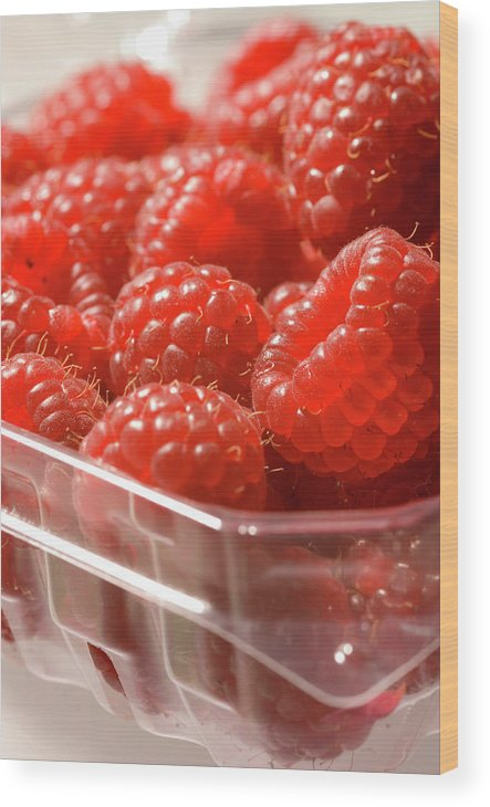 Lifestyles Wood Print featuring the photograph Berries In Carton by Gwmullis