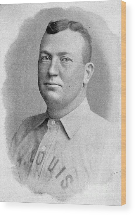 People Wood Print featuring the photograph Cy Young St. Louis 1899 by Transcendental Graphics