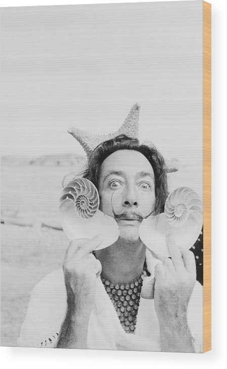 Painter Wood Print featuring the photograph Dali With Shells by Charles Hewitt