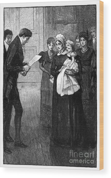 Engraving Wood Print featuring the drawing Death Of The Duke Of Kent, Father by Print Collector
