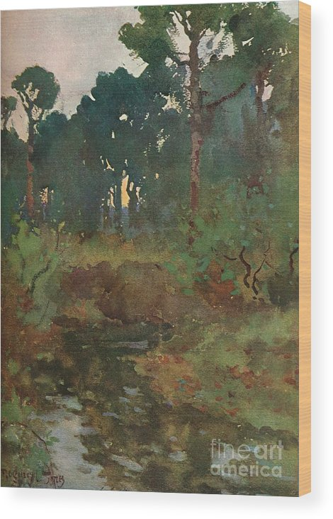 England Wood Print featuring the drawing Decorative Landscape Study, C.1903 by Print Collector